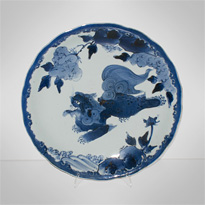 Blue and white porcelain plate, Japan, Edo period, 19th century [thumbnail]