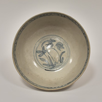 Swatow blue and white porcelain bowl (inside), China, Ming Dynasty, Wanli period (1573-1619) [thumbnail]