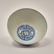 Blue and white bowl (top), China, Ming Dynasty, Wanli period (1573-1619) [thumbnail]