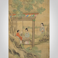 Hanging scroll painting - China, late Qing Dynasty, circa 1900