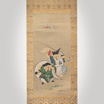 Hanging scroll painting, by Kano Naganobu (1775-1828) - Japan,