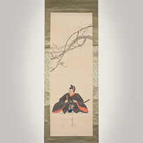 Hanging scroll portrait painting, by Sugiki Gessho - Japan,