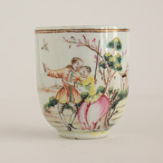 Famille rose export porcelain coffee cup