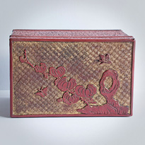 Cinnabar and gold coloured lacquer box (top), Ryukyu Islands, 18th century [thumbnail]
