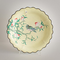 Painted enamel dish, China, Republic period, circa 1930 [thumbnail]