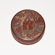Carved lacquer box in the Ming style, China, 19th century