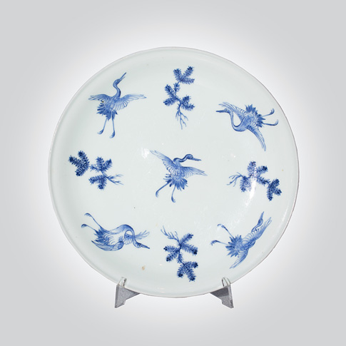 Hirado style blue and white plate, Japan, 19th century