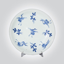 Hirado style blue and white plate, Japan, 19th century [thumbnail]