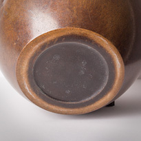 Patinated bronze vase, by Kozan (base), Japan, Taisho era, early 20th century [thumbnail]