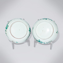 Pair of dishes (undersides), Japan, Edo period, circa 1680-1720 [thumbnail]