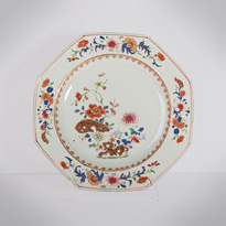 Pair of famille rose export porcelain plates - China, Qianlong period, circa 1760