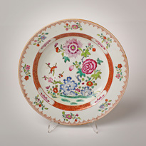Famille rose porcelain bowl - China, Qianlong, mid-late 18th century