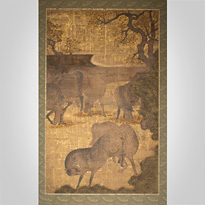 Screen painting of horses - Japan, Edo period, 17th century