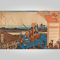 The Messenger of Bishamon on the Third Day of the New Year, an old custom at Mount Atago in Shiba, by Utugawa Hiroshige (1797-1858) - Japan,