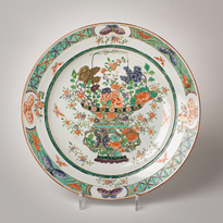 Samson porcelain dish in the Chinese Revival style - France, 19th century